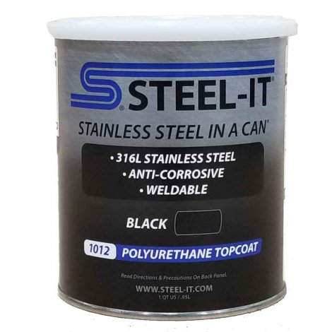 Steel-It Polyurethane Black Quart 1012Q