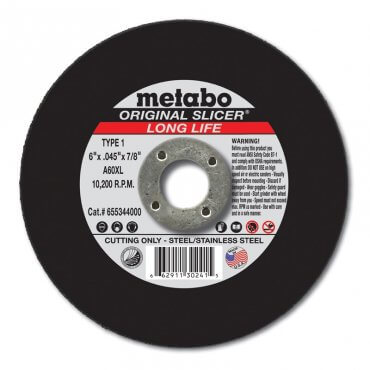 "Metabo A36XL 3""x1/8""x3/8"" Box 100 Original Slicer Long Life 616321000"