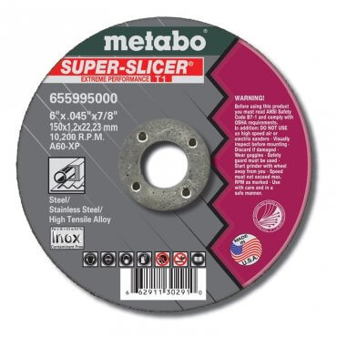 "Metabo A60XP 3""x1/16""x3/8"" Box 100 Super Slicer 655451000"