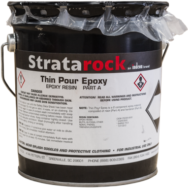 Stratarock Thin Pour Epoxy .24 cu ft unit