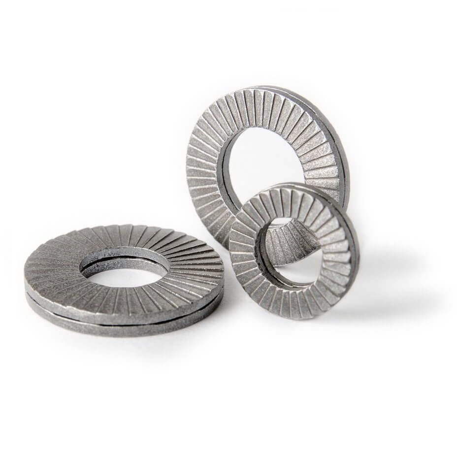 254 SMO Stainless Steel Nord-Lock 1591 Wedge Locking Washer - Pkg of 2 1591 M20 Large O.D