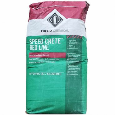 Euclid Speed Crete Red Line 50lb Bag